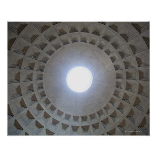 Pantheon  ceiling, low angle wide angle view poster