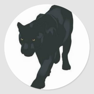 PANTHER_Sticker_WhosWhoInTheZoo Classic Round Sticker