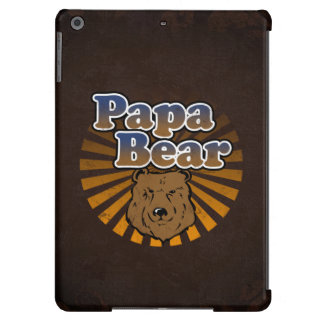 Papa Bear, Cool Fathers Day Vintage Look iPad Air Covers