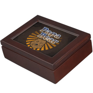 Papa Bear, Cool Fathers Day Vintage Look Memory Boxes