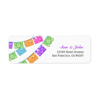 Papel Picado Return Address Labels