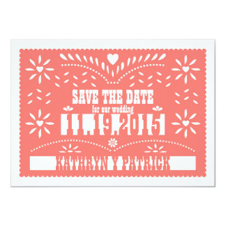 Papel Picado Save the Date Wedding Announcement
