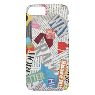 paper collage iPhone 8/7 case