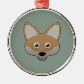 Paper Coyote Christmas Ornament