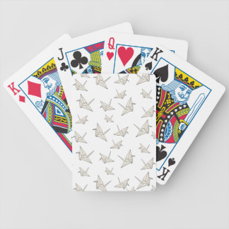 Paper cranes pattern bicycle playing cards
