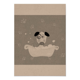 Paper greeting with little cute Dog Card