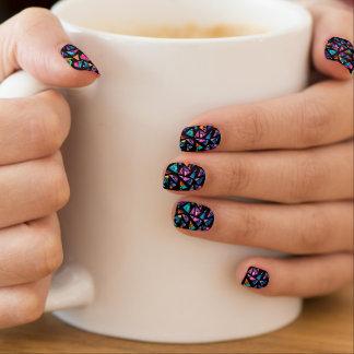 Paper Mosaic NailArt Minx Nail Art