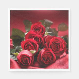 Paper Napkins-Red Roses Disposable Serviettes