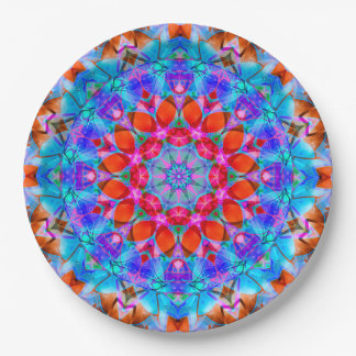 Paper Plate kaleidoscope Diamond Flower G408