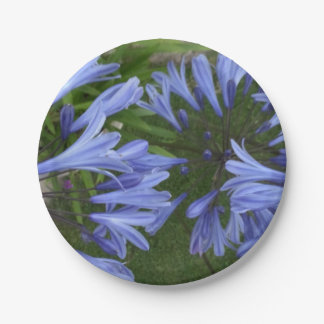 Paper plate with floral image 7 inch paper plate