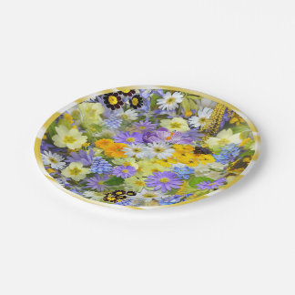 PAPER PLATES Floral With Border