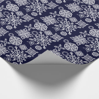 Paper Snowflakes (Dark Blue/White)