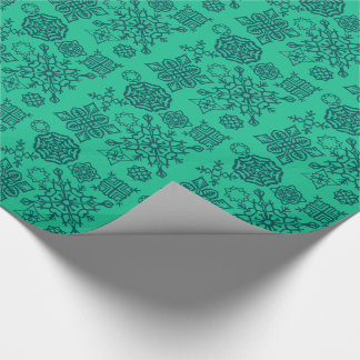 Paper Snowflakes (Teal/Dark Green)