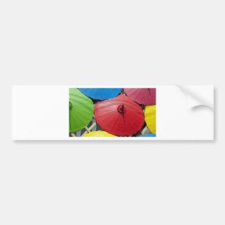paper umblella bumper sticker