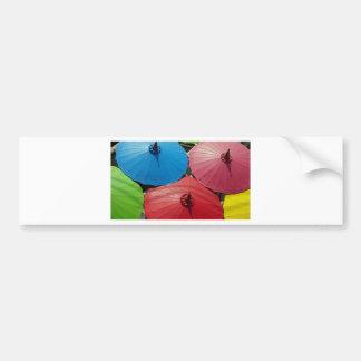 paper umbrella bumper sticker
