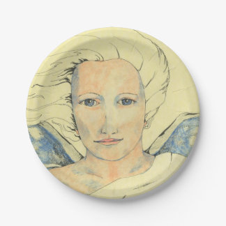 Paperplate with 'Angel Messenger' by Cheryl Lee Paper Plate