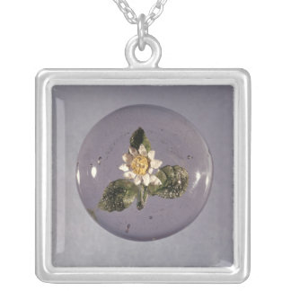 Paperweight, Pantin Workshop, c.1850 Silver Plated Necklace