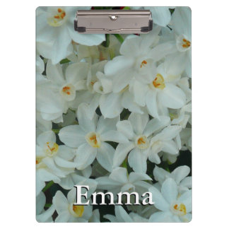 Paperwhite Narcissus Delicate White Flowers Clipboard