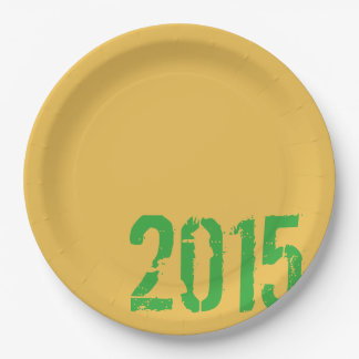 PaperWise 2015 Grad Party Paperware 9 Inch Paper Plate