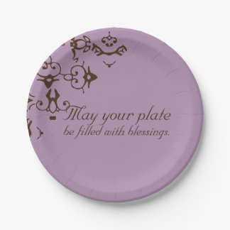 """PaperWise 7"""" Plate of Blessings 7 Inch Paper Plate"""