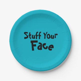 """PaperWise 7"""" Stuff Your Face Plate 7 Inch Paper Plate"""