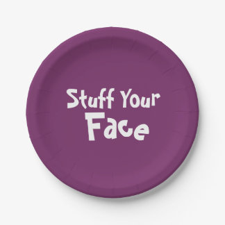 "PaperWise 7"" Stuff Your Face Plate 7 Inch Paper Plate"