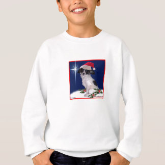 Papillon Christmas Sweatshirt for Kids