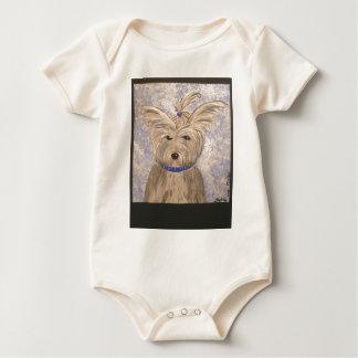 papillon dog baby bodysuit