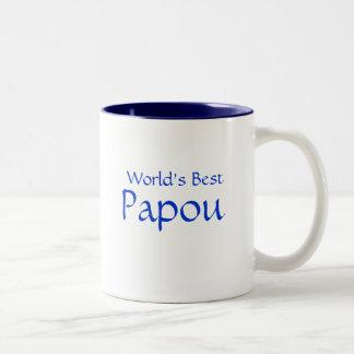 Papou, World's Best Two-Tone Coffee Mug