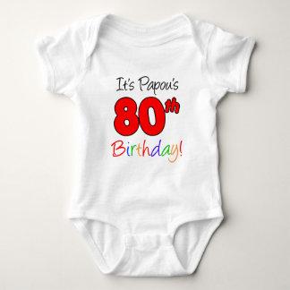 Papou's 80th Birthday Baby Bodysuit