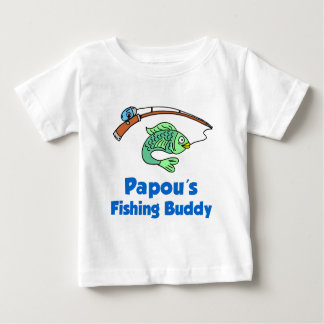 Papou's Fishing Buddy Baby T-Shirt