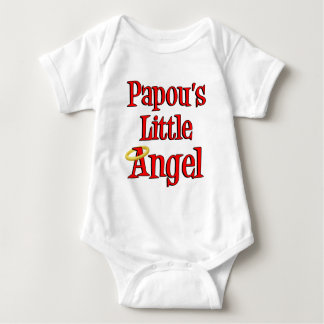 Papou's Little Angel Baby Bodysuit