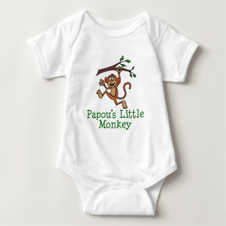 Papou's Little Monkey Baby Bodysuit