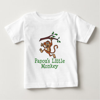 Papou's Little Monkey Baby T-Shirt