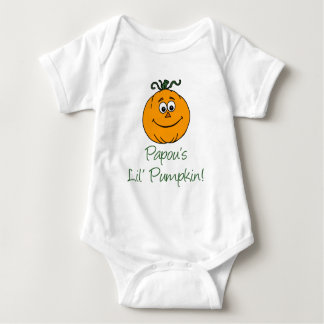 Papou's Little Pumpkin Baby Bodysuit