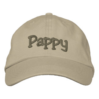 Pappy Mocha Embroidered Baseball Cap / Hat