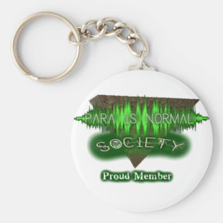 "Para-Is-Normal ""Proud Member"" Basic Round Button Key Ring"