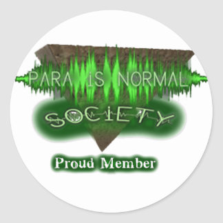 "Para-Is-Normal ""Proud Member"" Round Sticker"