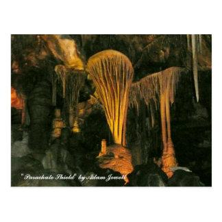 Parachute Shield Post Card At Lehman Caves
