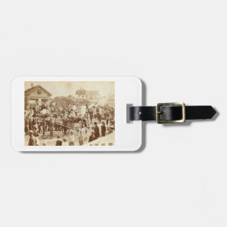 Parade, Provincetown, 1885 Vintage Luggage Tag