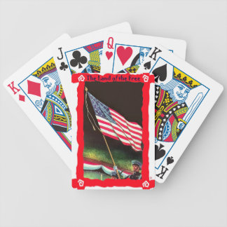 Parading the stars and stripes bicycle playing cards