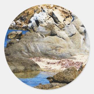 Paradise Beach - Mykonos, Greece Classic Round Sticker