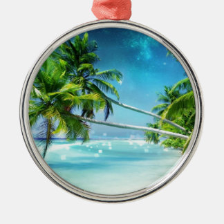 Paradise Dreams Silver-Colored Round Decoration