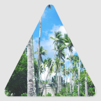 Paradise in the Pacific Triangle Sticker