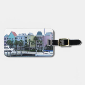 Paradise Island Bahamas Colorful Buildings Luggage Tag
