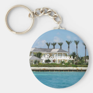 Paradise Island Basic Round Button Key Ring