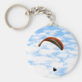 Paragliding in the Clouds - Customizable Keychain