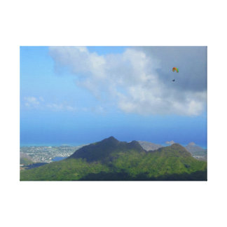 Paragliding Oahu, Hawaii Canvas Print