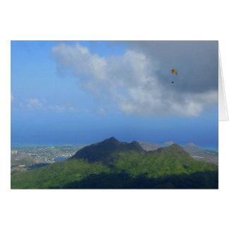 Paragliding Oahu, Hawaii Card