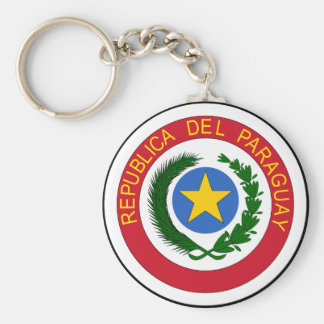 Paraguay coat of arms key ring